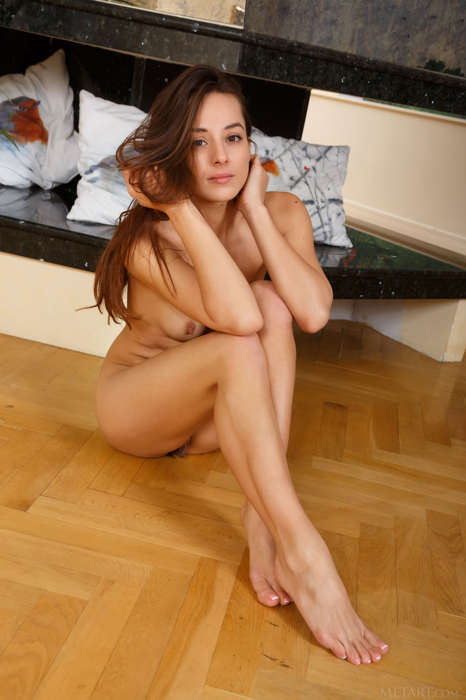 Brunette in sweater naked remarkable question