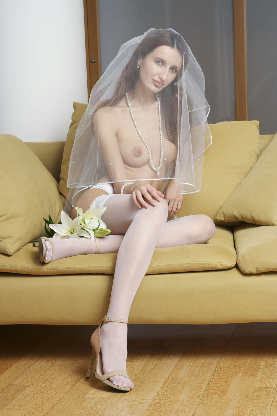 White stockings pussy
