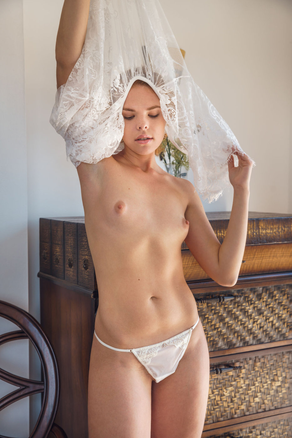 Trimmed pussy in panties