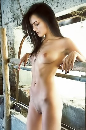 Dark-haired and stunning brunette takes off her white dress, aggressively Videos
