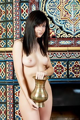 Dark-haired seductress with bangs showing off her lustful holes Videos