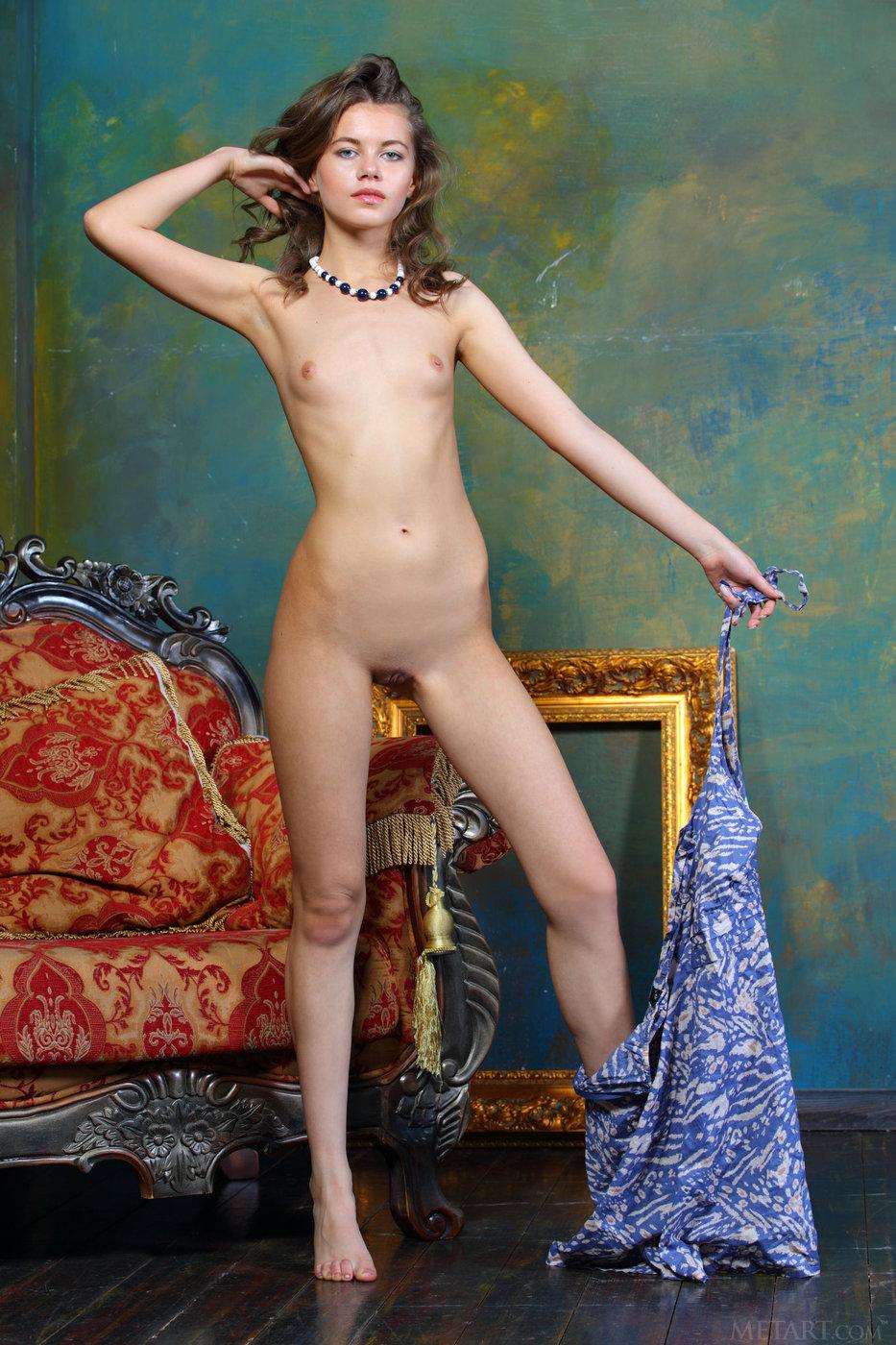 flat chested brunettes naked