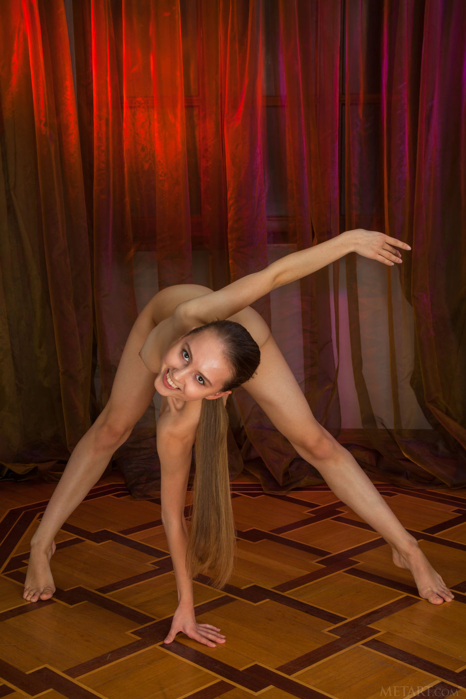 Found leggy redhead contortionist the