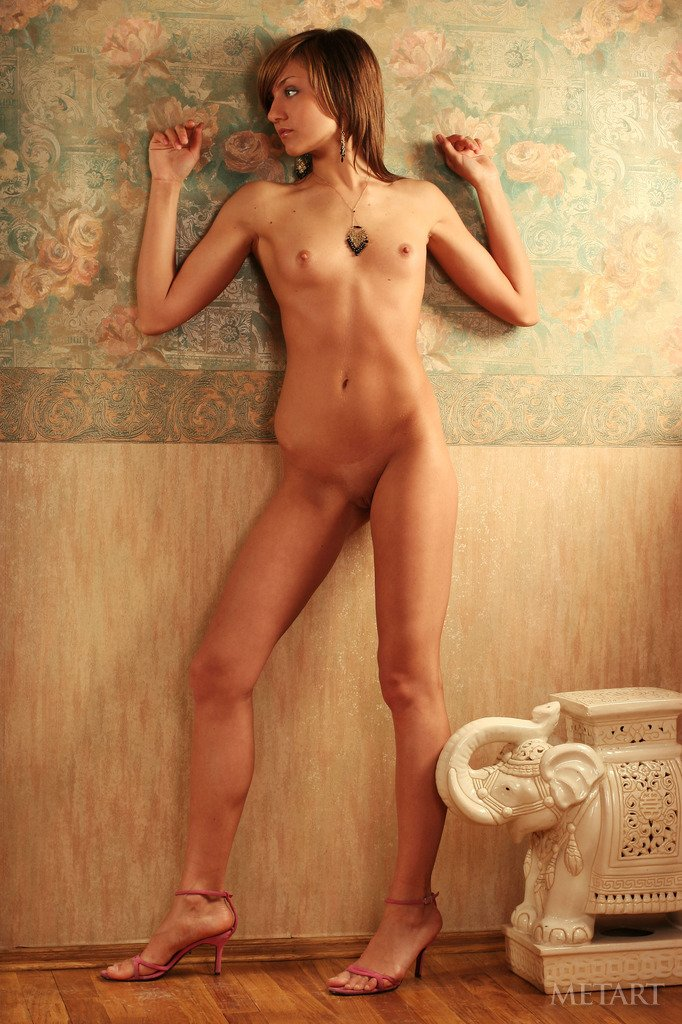 Naked Amateur Dasha Wears Only Shoes