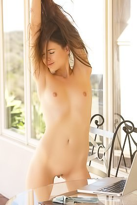 Absolutely stunning brunette with a winning smile gets naked Videos