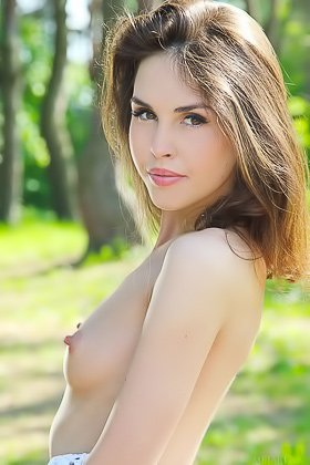 Slender long-haired beauty showing her pussy during a picnic Videos