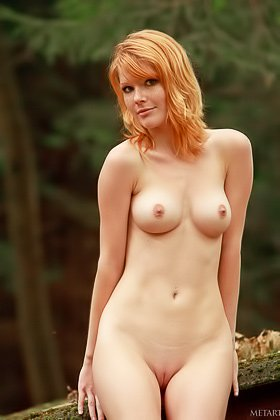 Short-haired redhead shows that smooth pussy on a fucking roof Videos