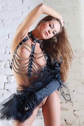 Rebellious brunette shows her body in a very hot-looking outfit Videos