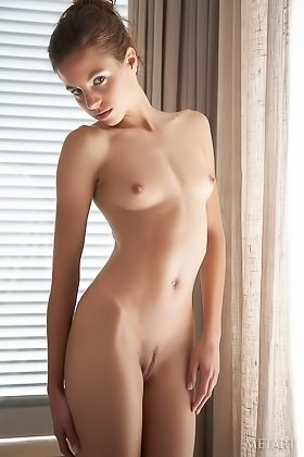 Confident slim beauty showing her slim body in a solo photoshoot Videos