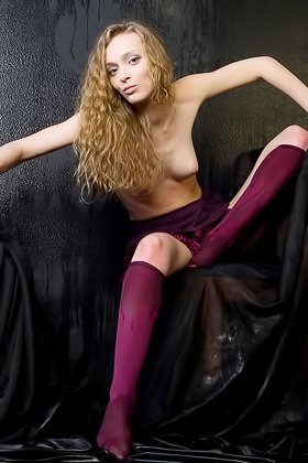 Blond-haired beauty flashing her cute coochie for the camera Videos