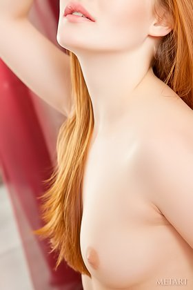 Red-haired lady in white lingerie showing off in a hot solo album Videos