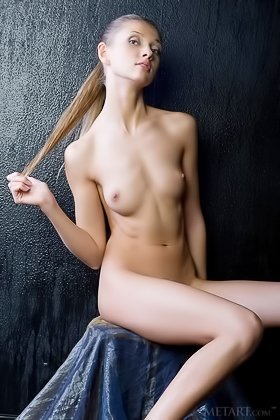 Scrawny ponytailed babe in knee-highs shows her flawless body Videos